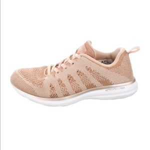 APL Rose Gold Knit Sneakers